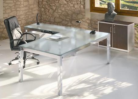 Escritorios en vidrio mublex ecuador for Muebles de oficina vidrio